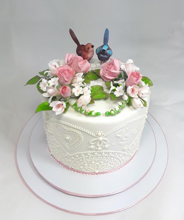 Wedding with birds