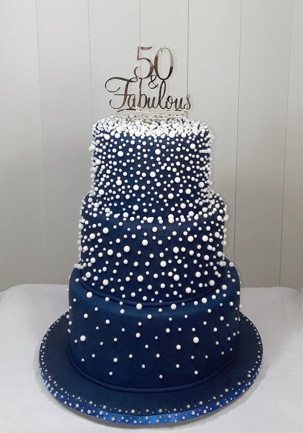 Blue and Pearls Birthday